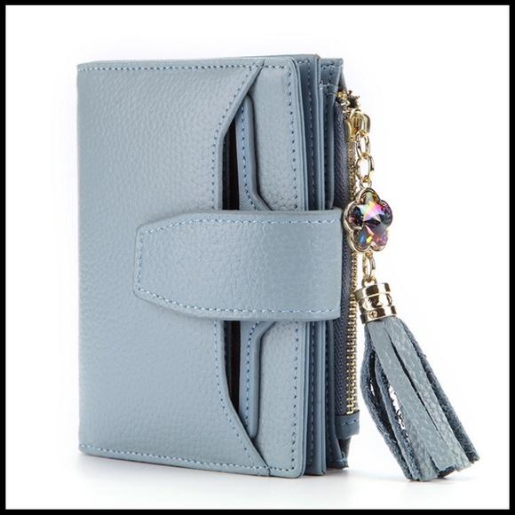 NEW DIJON Multi Function Crystal Tassel Wallet